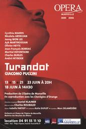 Affiche : Turandot. 2005/2006, Opéra de Marseille |