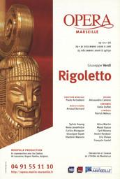 Affiche : Rigoletto. 2006/2007, Opéra de Marseille |