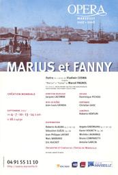 Affiche : Marius et Fanny. 2007/2008, Opéra de Marseille |