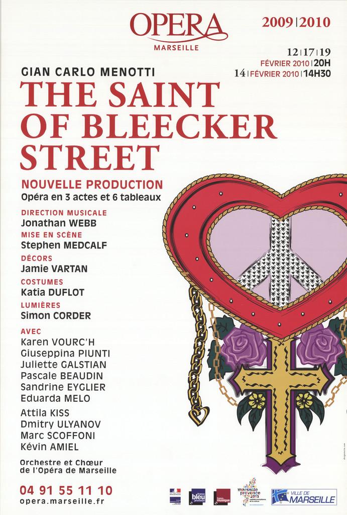 Affiche : Saint of Bleecker street (The). 2007/2008, Opéra de Marseille  