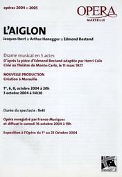 Programme de Salle : Aiglon (L'). 2004/2005, Opéra de Marseille |