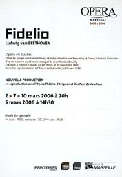 Programme de Salle : Fidelio. 2005/2006, Opéra de Marseille |