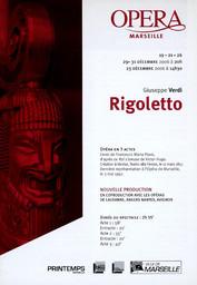 Programme de Salle : Rigoletto. 2006/2007, Opéra de Marseille |