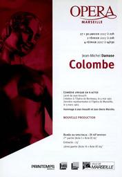 Programme de Salle : Colombe. 2006/2007, Opéra de Marseille |
