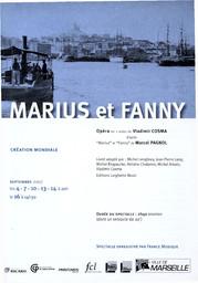 Programme de Salle : Marius et Fanny. 2006/2007, Opéra de Marseille |