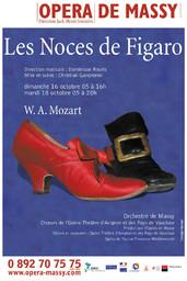 Affiche : Noces de Figaro (Les). 2005/2006, Opéra de Massy |