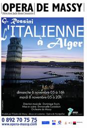 Affiche : Italienne à Alger (L'). 2005/2006, Opéra de Massy |