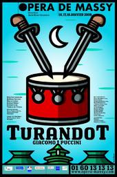 Affiche : Turandot. 2008/2009, Opéra de Massy |