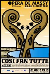 Affiche : Così fan tutte. 2008/2009, Opéra de Massy |