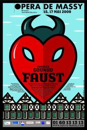 Affiche : Faust. 2008/2009, Opéra de Massy |