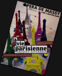 Programme de Salle : Vie parisienne (La). 2008/2009, Opéra de Massy |