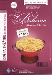 Affiche : Bohème (La). 2009/2010, Opéra-Théâtre de Metz Métropole |