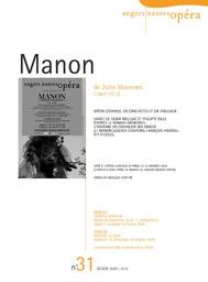 Programme de Salle : Manon. 2009/2010, Angers Nantes Opéra |
