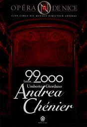 Programme de Salle : Andrea Chenier. 1999/2000, Opéra de Nice Côte d'Azur |