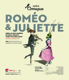 Affiche : Roméo et Juliette. 2007/2008, Théâtre national de l'Opéra-comique  
