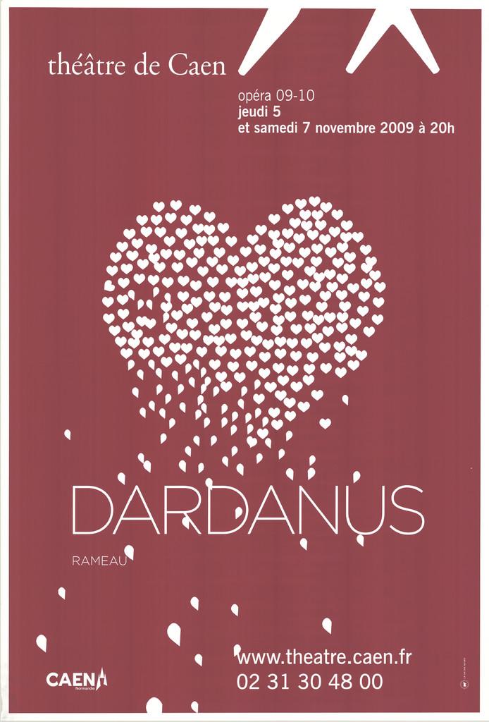 Affiche : Dardanus. 2009/2010, Théâtre de Caen  
