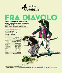 Affiche : Fra Diavolo ou l'hôtellerie de Terracine. 2008/2009, Théâtre national de l'Opéra-comique  