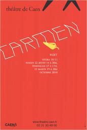 Affiche : Carmen. 2010/2011, Théâtre de Caen |