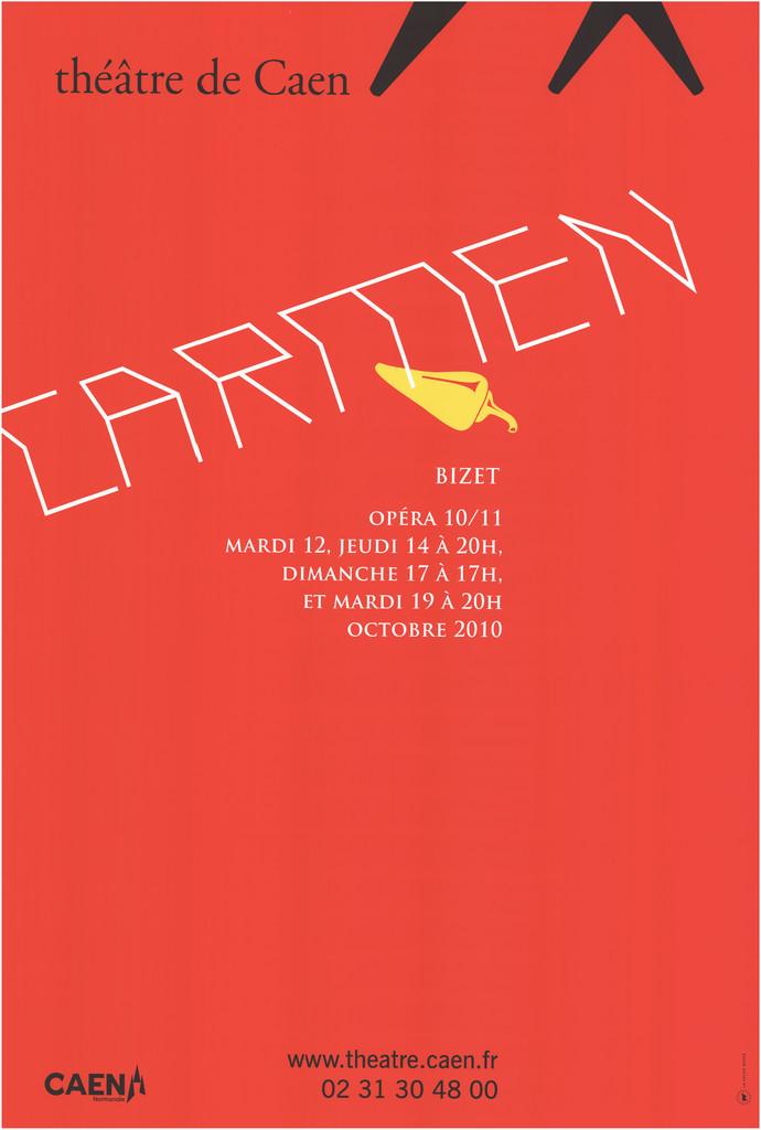 Affiche : Carmen. 2010/2011, Théâtre de Caen  