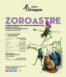 Affiche : Zoroastre. 2008/2009, Théâtre national de l'Opéra-comique  