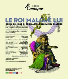 Affiche : Roi malgré lui (Le). 2008/2009, Théâtre national de l'Opéra-comique |