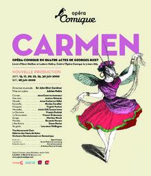 Affiche : Carmen. 2008/2009, Théâtre national de l'Opéra-comique |