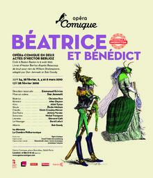 Affiche : Béatrice et Bénédict. 2009/2010, Théâtre national de l'Opéra-comique  