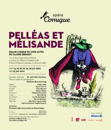 Affiche : Pelléas et Mélisande. 2009/2010, Théâtre national de l'Opéra-comique  