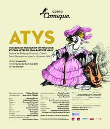 Affiche : Atys. 2010/2011, Théâtre national de l'Opéra-comique  