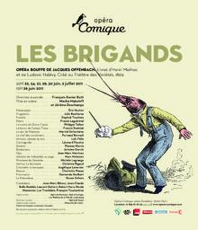 Affiche : Brigands (Les). 2010/2011, Théâtre national de l'Opéra-comique  