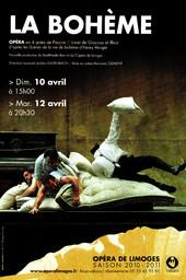Affiche : Bohème (La). 2010/2011, Opéra Théâtre de Limoges |