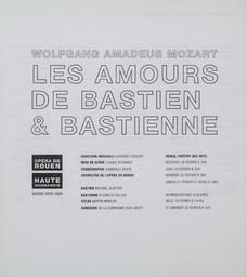 Programme de Salle : Bastien et Bastienne. 2003/2004, Opéra de Rouen Haute-Normandie |