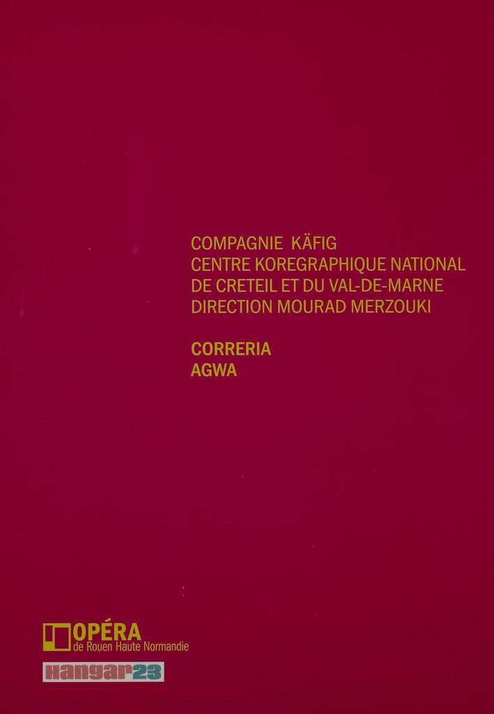 Programme de Salle : Agwa. 2009/2010, Opéra de Rouen Haute-Normandie |