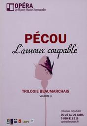 Programme de Salle : Amour coupable (L'). 2009/2010, Opéra de Rouen Haute-Normandie |