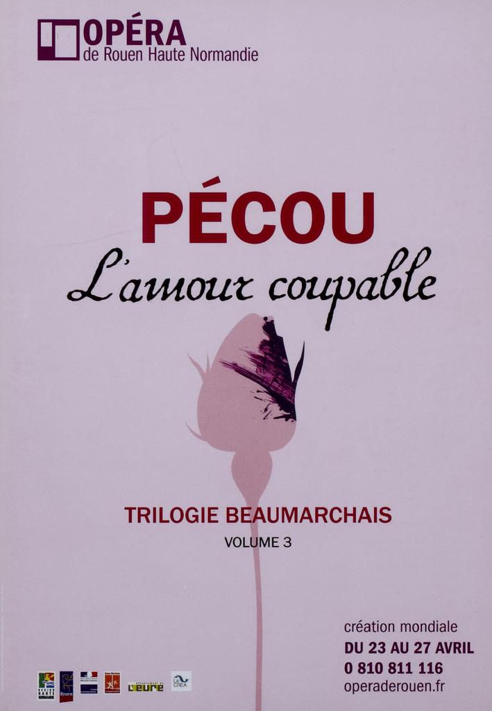 Programme de Salle : Amour coupable (L'). 2009/2010, Opéra de Rouen Haute-Normandie  