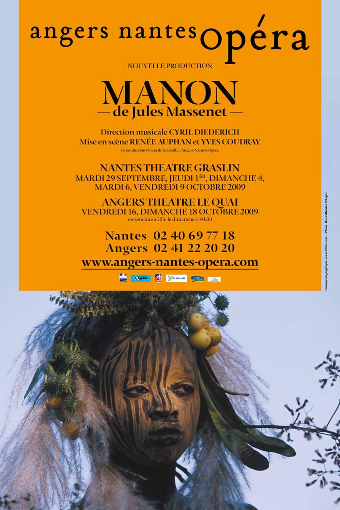 Affiche : Manon. 2009/2010, Angers Nantes Opéra  
