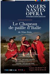 Affiche : Chapeau de paille d'Italie (Le). 2012/2013, Angers Nantes Opéra |