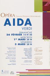 Affiche : Aida. 2005/2006, Opéra de Toulon Provence Méditerranée |