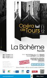 Programme de Salle : Bohème (La). 2011/2012, Opéra de Tours |