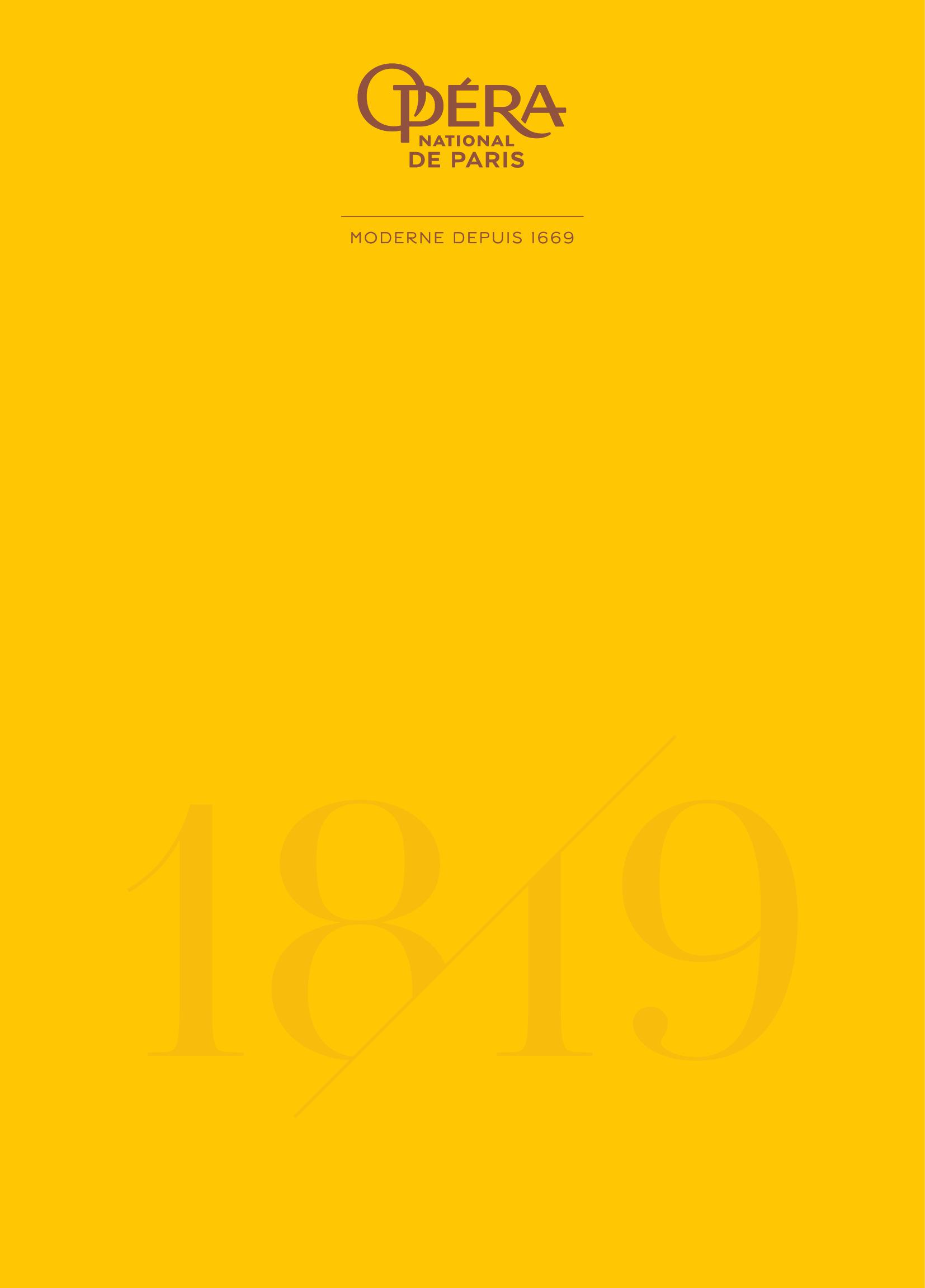 Opéra national de Paris - Brochure de saison. 2018/2019, Opéra national de Paris  