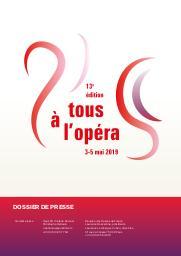 Tous à l'Opéra !. Édition 2019, Réunion des Opéras de France |